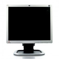 Monitor 19 inch LCD HP L1950G, Silver & Black, Panou Grad B, Buton rupt