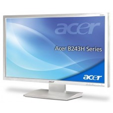 Monitor 24 inch LED, Full HD, ACER B243HL, White