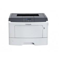 Imprimanta LaserJet Monocrom, A4, Lexmark MS410dn, 40 pagini/minut, 60.000 pagini lunar, 1200 x 1200 DPI, Duplex, USB, Network