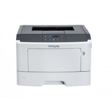 Imprimanta LaserJet Monocrom, A4, Lexmark MS410dn, 40 pagini/minut, 60.000 pagini lunar, 1200 x 1200 DPI, Duplex, USB, Network, 2 Ani Garantie