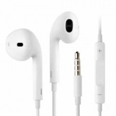 Casti Audio Apple pentru iPhone In-Ear, Cu Fir, Mufa Jack, Albe