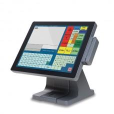 Sistem POS CHD 8700, Display 15inch Touchscreen, Intel Atom D525 1.8 GHz, 4 GB DDR3, 128 GB SSD NOU, Cititor Card, Windows 10 Home, 2 Ani Garantie