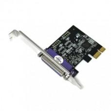 Adaptor Low Profile Paralel port, Delock PI40952-3X2B, 1 x DB-25, Pci-e x1
