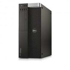 Workstation DELL Precision T5810 Tower, Intel Quad Core Xeon E5-1607 v3 3.1 GHz, 16 GB DDR4 ECC, 1 TB HDD SATA, DVD, Placa Video NVIDIA Quadro 4000, Windows 10 Pro, 3 Ani Garantie